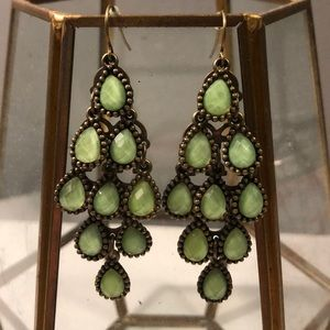 Urban outfitters turquoise chandelier earrings